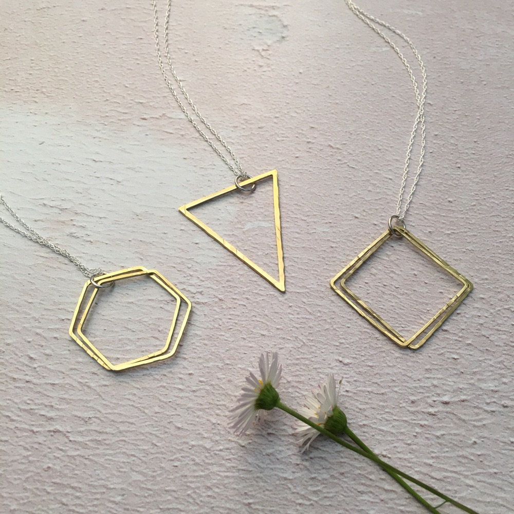 Brass & Sterling Silver Necklaces