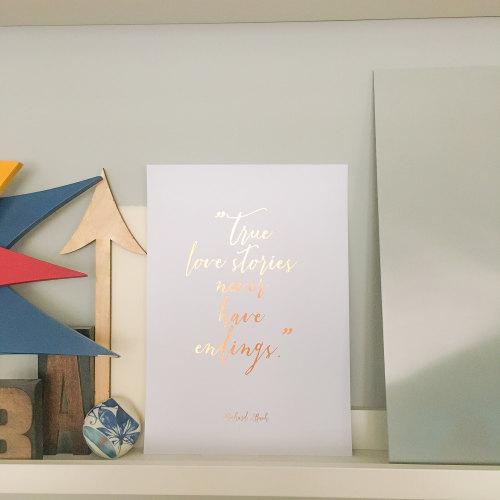Foil Print (True love stories)