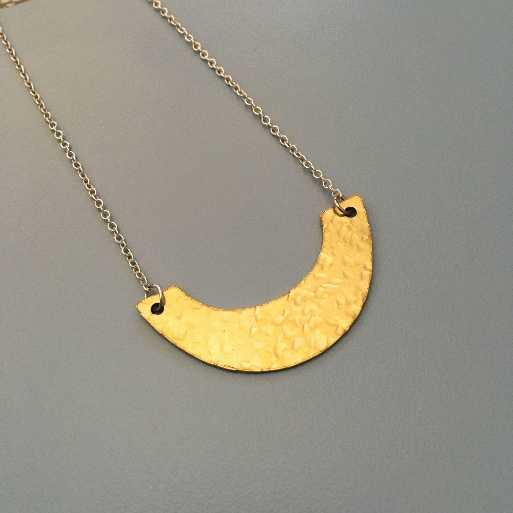 Brass Crescent Pendant
