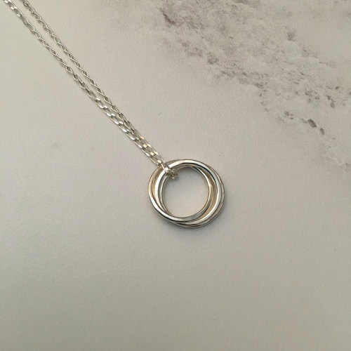 Triple Silver Ring Pendant