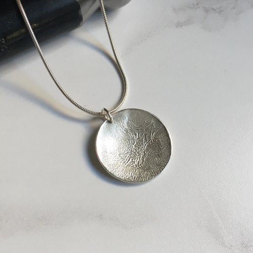 Reticulated Silver Pendant - Large