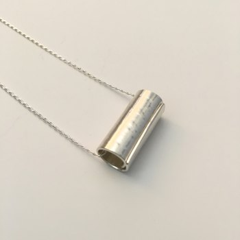 Large Silver Roll Pendant