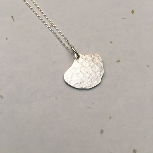 Silver Pansy Petal Pendant