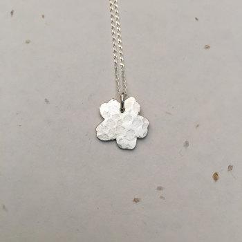 Silver Primrose Pendant