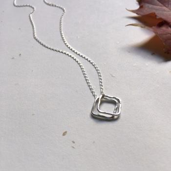 Mini Silver Squares Pendant
