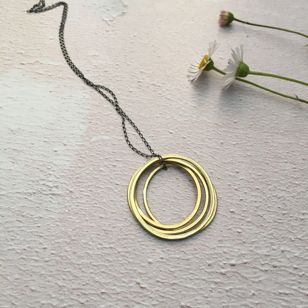 4 Ring Brass Pendant