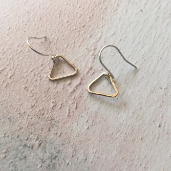 Sterling Silver Triangle  Earrings