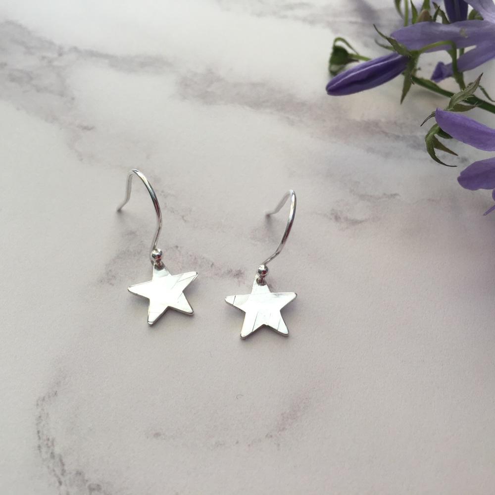 Mini Silver Star Earrings