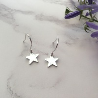 Mini Silver Star Earrings