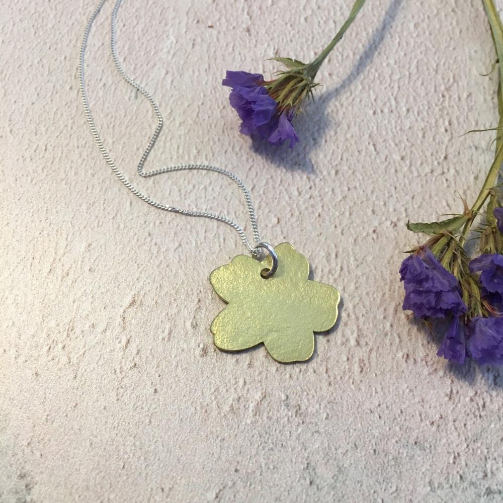 Brass Primrose Pendant