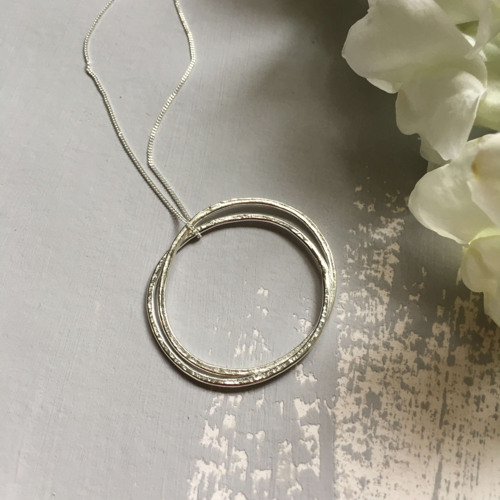 Lace Printed Large Ring pendant