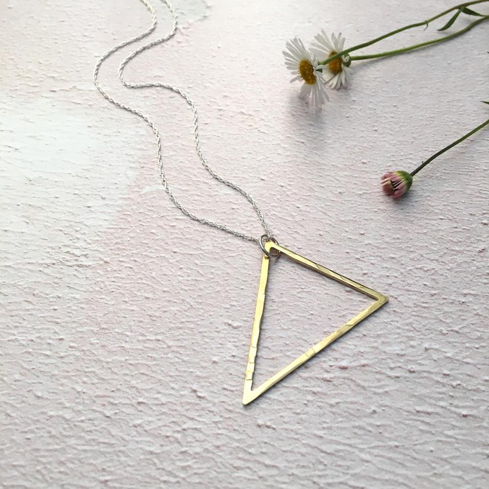 Brass Triangle Pendant