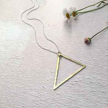 Brass Triangle Pendant