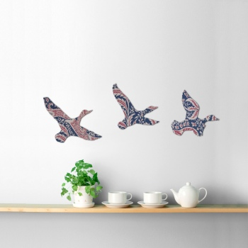 William Morris Wallpaper Wooden Ducks Set (Indian)