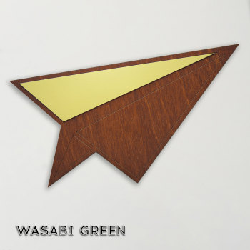 Wood & Formica 'Paper Plane' (Wasabi Green)