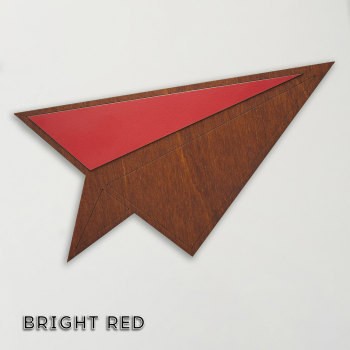 Wood & Formica 'Paper Plane' (Bright red)