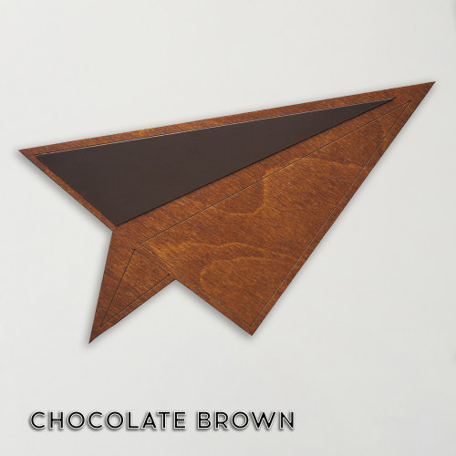 Wood & Formica 'Paper Plane' (Chocolate brown)