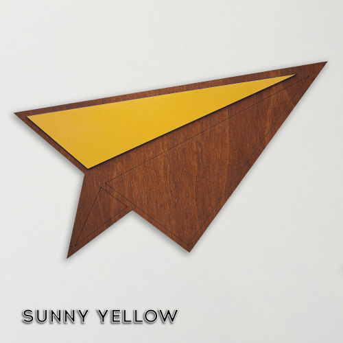 Wood & Formica 'Paper Plane' (Sunny Yellow)