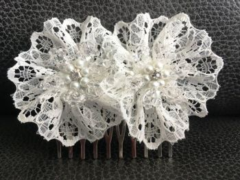 Lace Flower Bridal Hair Comb