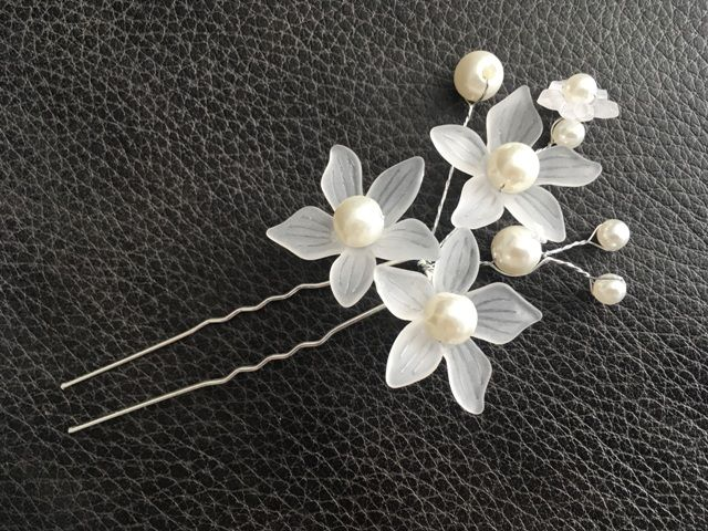 Flower an Pearl Hair Pin