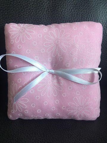 Pink Wedding Ring Cushion