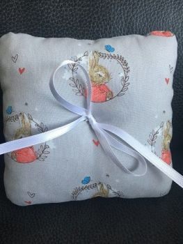 Beatrix Potter Peter Rabbit Wedding Ring Cushion