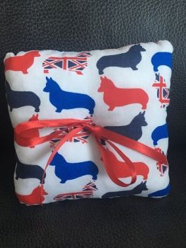 British Corgi Wedding Ring Cushion
