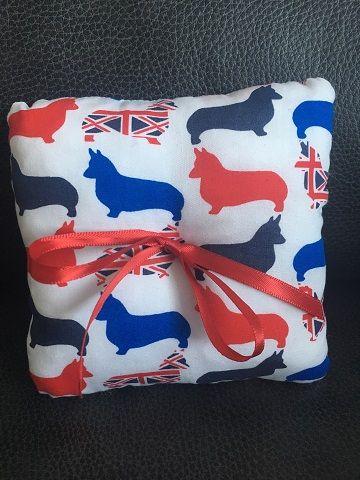 British Corgi Wedding Ring Cushion