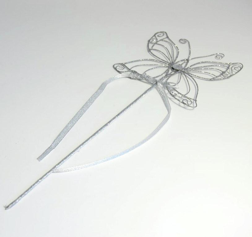 Silver Butterfly Wand