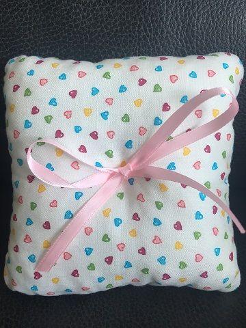 Mini Hearts Wedding Ring Cushion
