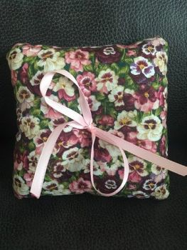 Pansy Wedding Ring Cushion