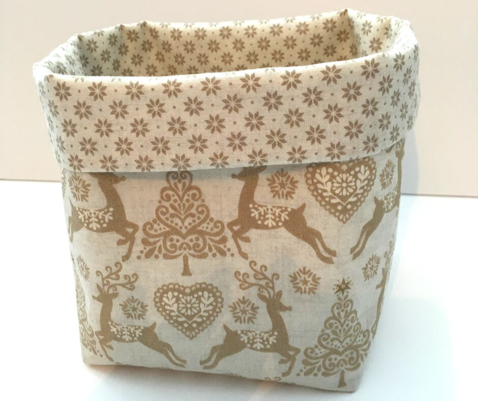 Christmas Basket - Cream