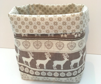 Christmas Basket - Cream/Brown