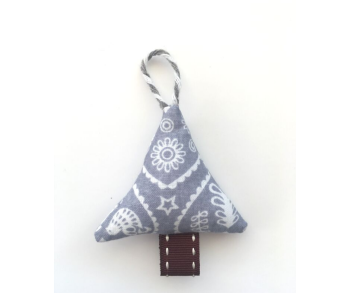 Mini Christmas Tree Decoration - Grey Scandi Style