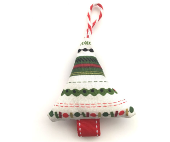 Mini Christmas Tree Decoration - Stripes