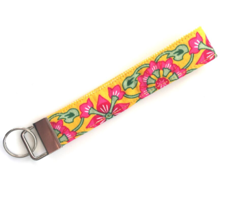 Wristlet - Bright Yellow Print