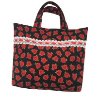 Cotton Tote Bag - Red Rose - (164)