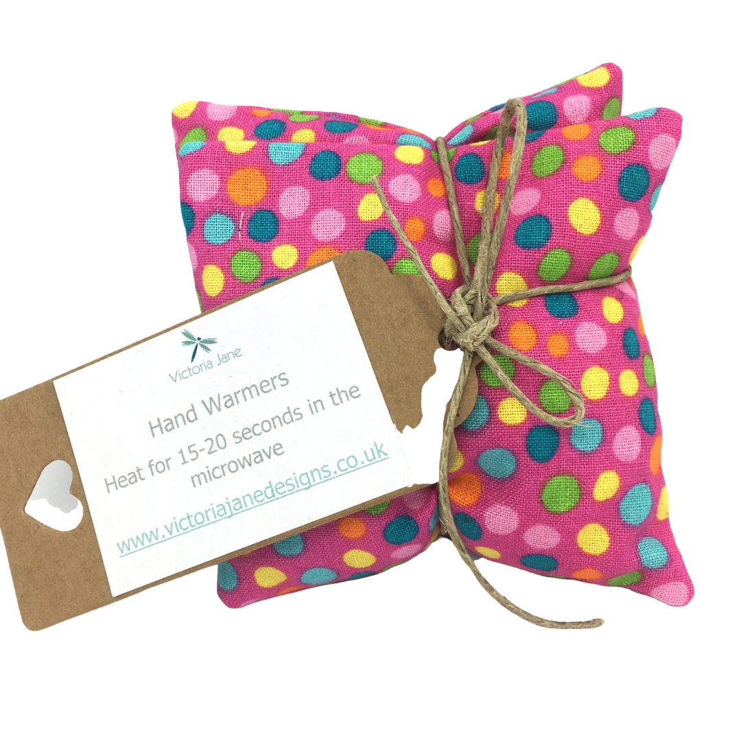 Hand Warmers - Bright Pink/Mixed Spots