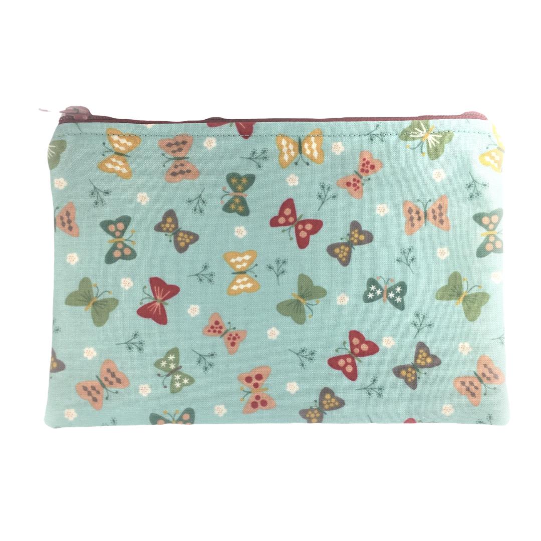 Zip-up Cosmetics Bag - Butterflies