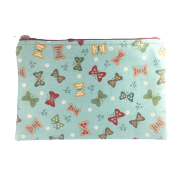 Zip-up Cosmetics Bag - Butterflies