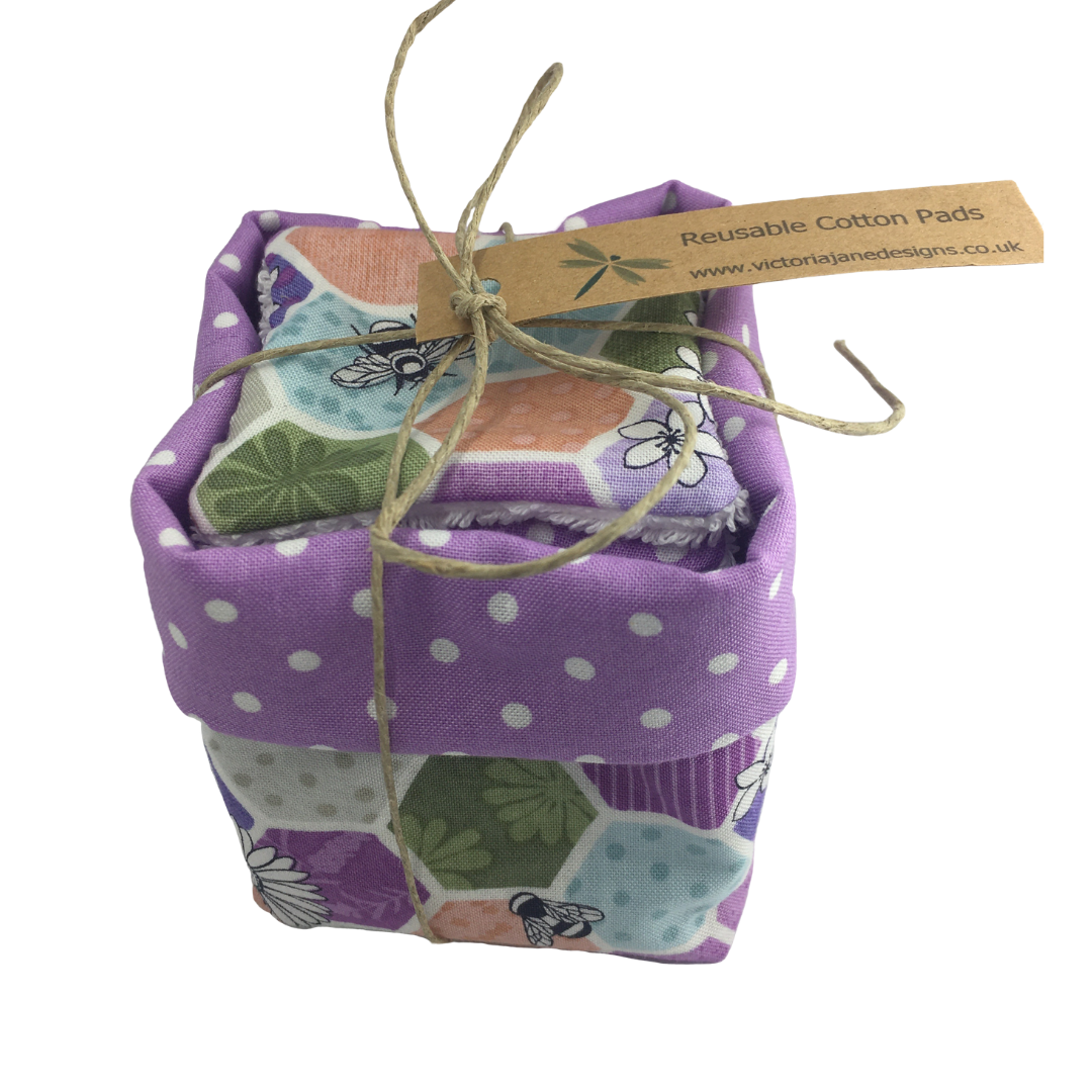 Reusable Cotton Pad Basket - Bee Hive