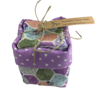 Reusable Cotton Pad Basket and 14 pads - 057