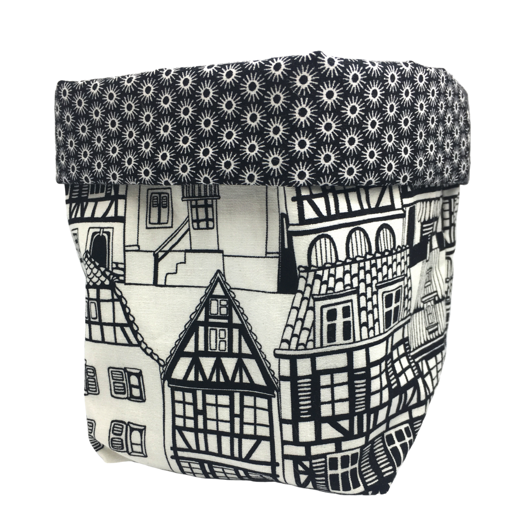 Storage Baskets - Black and White Buildings (3 sizes to choose from)