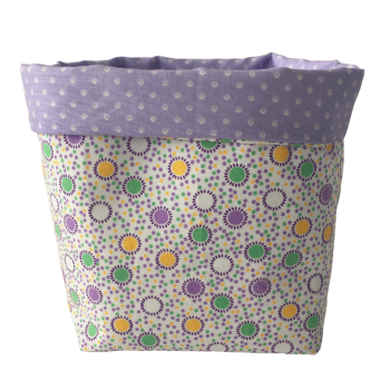 Storage Baskets - Lilac Spots (3 sizes to choose from)