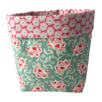 Storage Baskets - Teal and Pink
