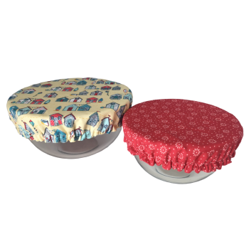 Bowl Cover - BEACH HUTS - 091