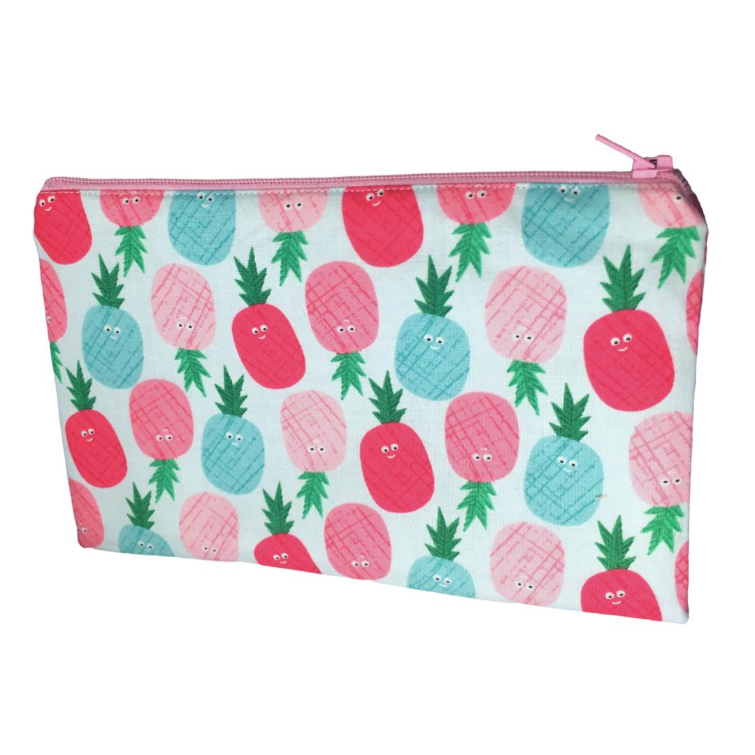 Zip-up Cosmetics Bag - 008 PINEAPPLES