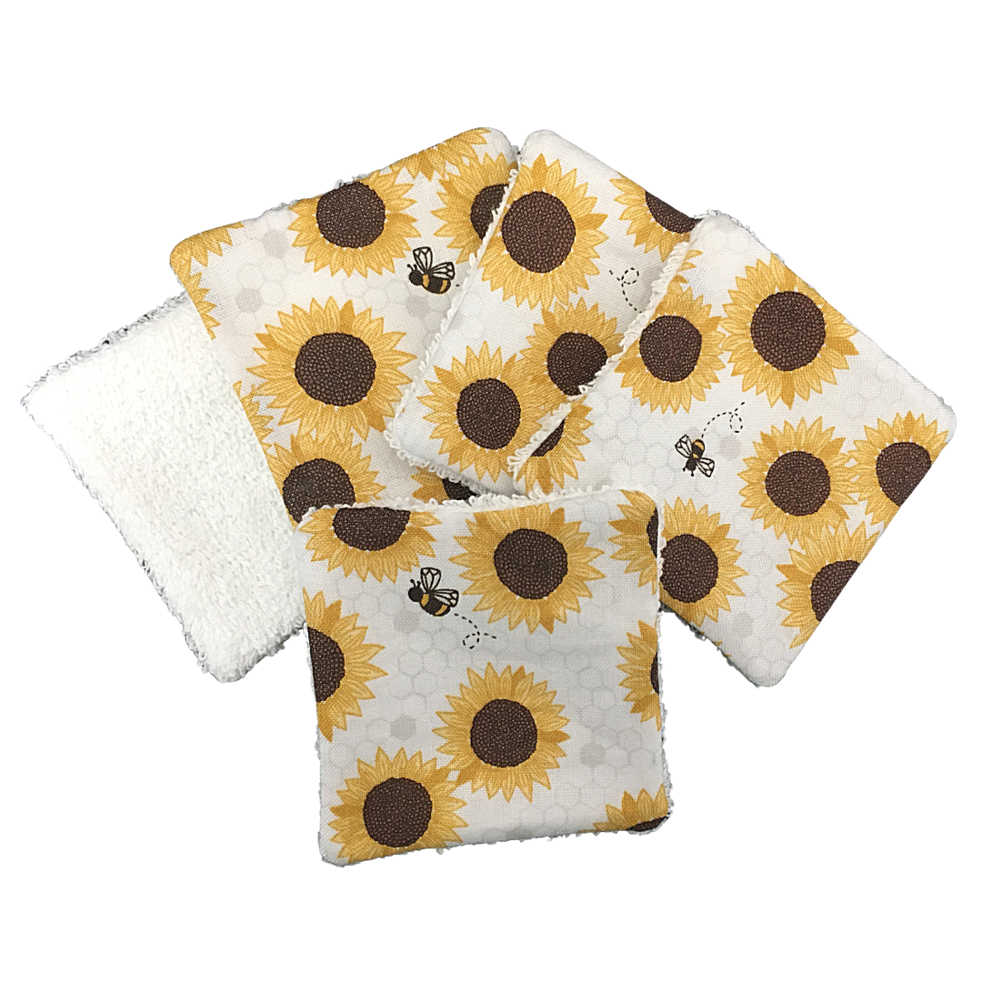 Reusable Cotton Pads - 131 SUNFLOWERS