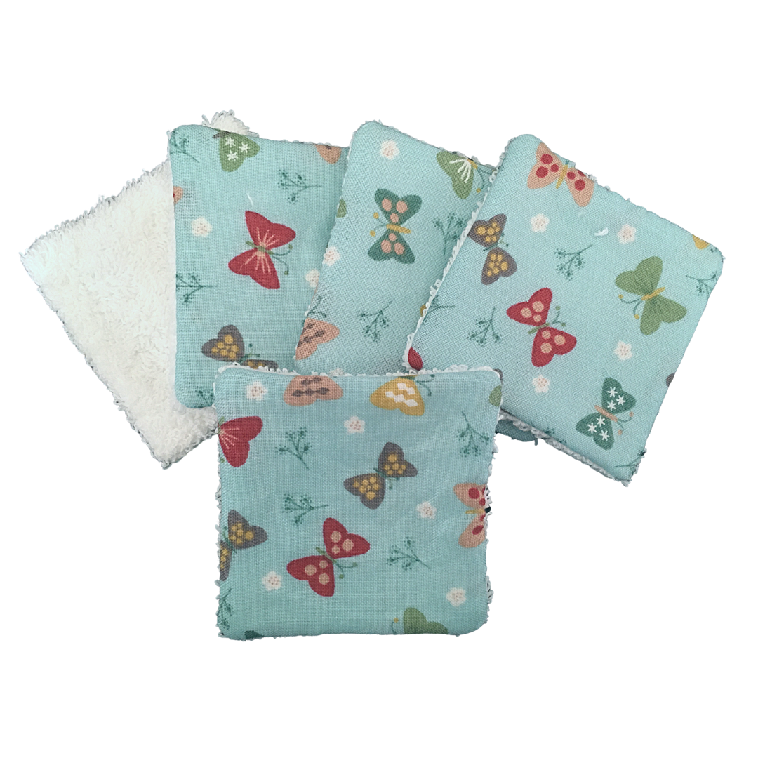 Reusable Cotton Pads - 001 BUTTERFLIES