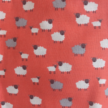 Cotton Face Mask - 134 SHEEP (picture of fabric used for the mask)